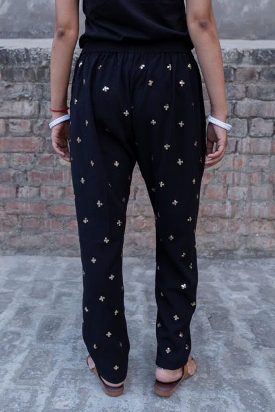 Mysore Black Cotton Pants back