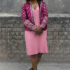 sarla thakral full pink hoodie front